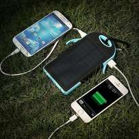 Waterproof Solar Cellphone Charger Dual USB Power Bank at R250 each