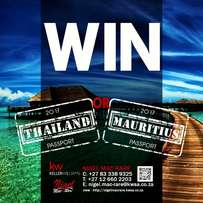 FREE Mauritius or Thailand Holiday