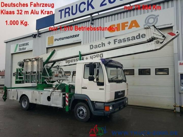 MAN 8.113 Klaas Montage Dachdecker Kran 32m 1000 kg. - 1999