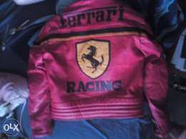 Ferrari racing real leather protective jacket with padding