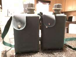 Militarily water 2l hiking bottle x2