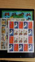 6 complete sets of Christmas stamps: 1969,1980,1983,1988,1990 and1995