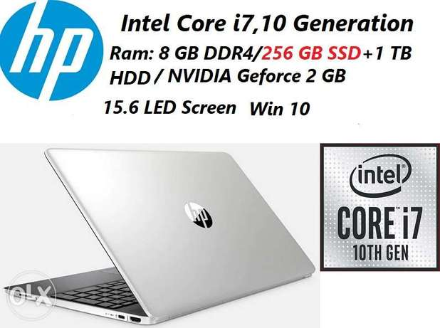 للبيع لابتوب جديد Hp Core i7/256 GB SSD+1TB HDD/2GB NVIDIA Graphics