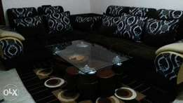 Sofaset six seat height quality 65k and coffee table 10k