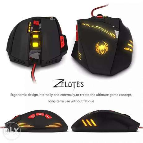 Zelotes T90 8000 DPI High Precision USB Wired Gaming Mouse,8 Buttons
