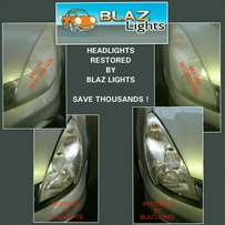 Restoration of faded car headlights