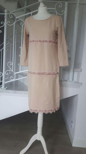 bf2a2c142d sukienka różowa koronka dresowa rozm 40 Wyszków - image 8