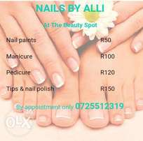 always wanted awesome nails? try a treament at nails by alli
