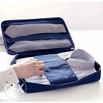 Travel Pouch Storage For Slim Shirt - Navy Blue