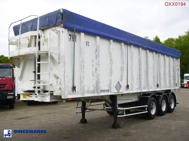 GENERAL TRAILER Tipper trailer alu 48 m3 + tarpaulin - 2003