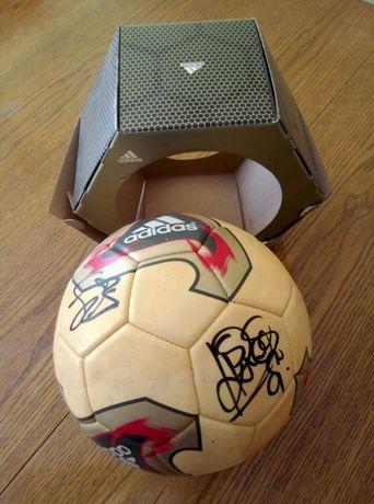 b58887062 FC Barcelona piłka z autografami 2002 rok - Warszawa - Witam, sprzedam  orginalna piłkę adidas