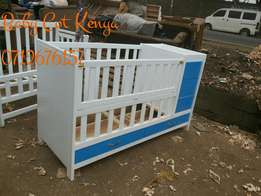 Blue White Baby Cot