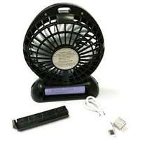 Portable rechargeable fan with light