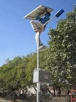 Installation,maintenance and commissioning of solar LED street lights
