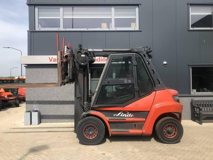 heftruck LINDE H60-01 triplex470 freelift sideshift vor... - 2010
