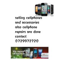 Selling phones & accessories also phone repairs are done