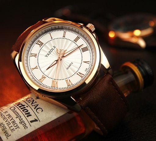 Мужские кварцевые часы YAZOLE 336 Кожаный ремешок Красный Лиман -  изображение 3 1681f942b32e6