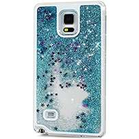 Samsung note 4 Bling glitter star transparent flowing case, phone case