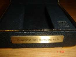 Girard Perregaux quartz chronometer original box,black leather