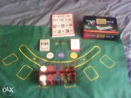 Poker set with poker book