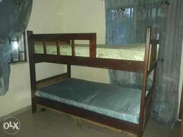 very durable double bunk with matresses