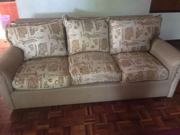 Ivory and golden fabric Sofa's (3+2+1+1) Runda - image 6