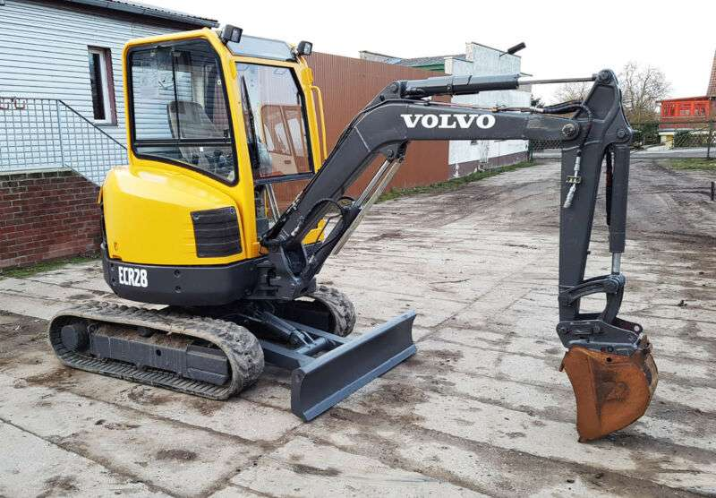 Volvo ECR28 Minibagger mit 2x Löffel - 2008