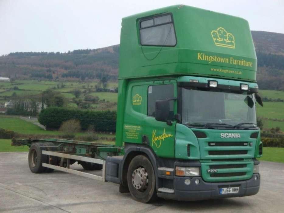Scania P270 containertransporter