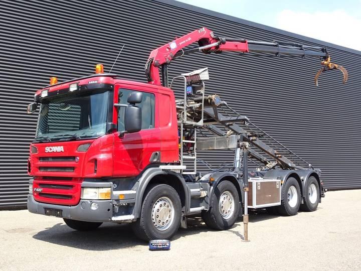 Scania P400 8X2 EURO 5 CRANE + CONTAINERSYSTEM - 2011