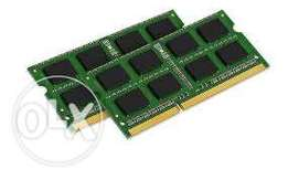 eight gigs ram for sale at 700