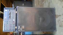 Professional sound mixer and speaker on sale