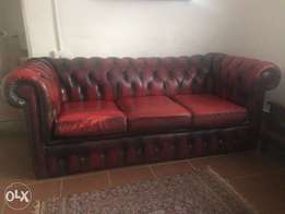 Original Antique English Chesterfield Couch