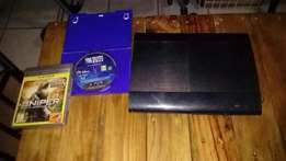 PS3 Slim 500gb console + 2 games