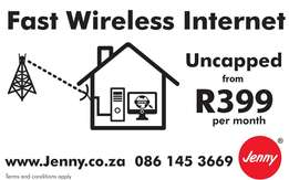 Uncapped wireless internet from R399 per month