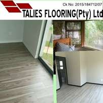 Laminate wooden flooring and blinds