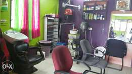A well maintained and running salon for sale within Bamburi mtambo!