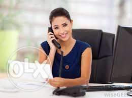 Female office assistant with business center experience.