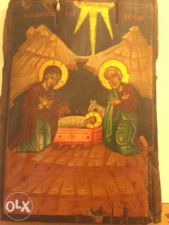 very rare greeck icon 18th century nativity