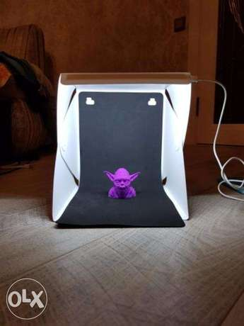 LED Photo Studio Box kit Portable Light Room COOL photography backdrop