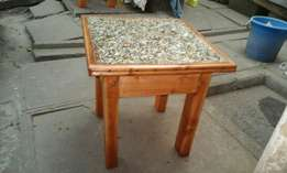 coffee table plus two stools
