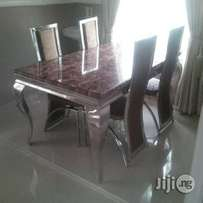 Marble dining table for 6setter with for chairs