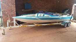 Boat 21 ft bear footer bow-rider for sale with 140 hp suzuki