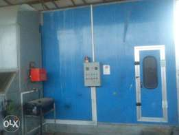 Auto body spray shop with a 2 bedroom apartment for sale