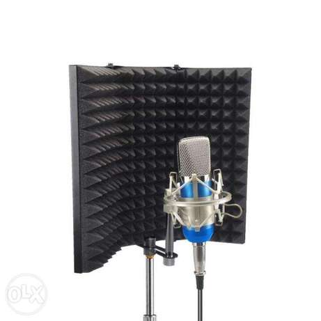 Mic Isolation Sound Shield for Studio Profesional Portable VocalBooth
