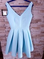 f6fb82b1f3 Błękitna sukienka wesele komunia xs s 34 36
