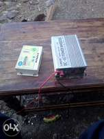 Solar panel, ac inverter and solar charger control