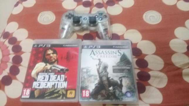 Ps3 controller and two games Awka South - image 2