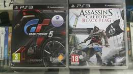 Assassins creed Black flag And grand turismo 5