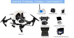 DJI Inspire 1 V2 daylight and thermal view with a FLIR TAU2 camera