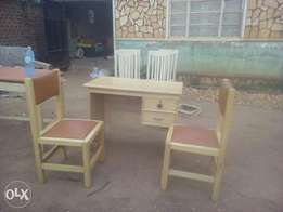 Office table and two office chairs available on order